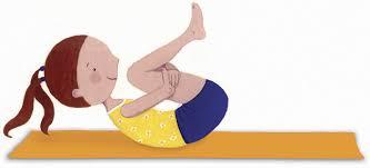 cartoon of girl in yoga pose