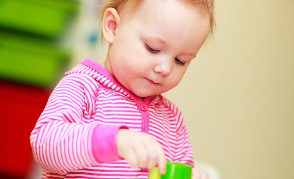 toddler concentrating